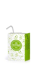 Соки ГОСТ, вкус Яблоко, упаковка 200 мл.