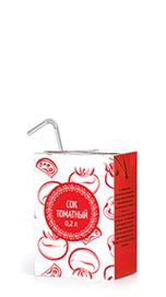 Соки ГОСТ, вкус Томат, упаковка 200 мл.