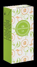 Соки СТО, вкус Яблоко-абрикос, упаковка 1 литр