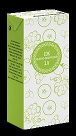 Соки СТО, вкус Яблоко-виноград, упаковка 1 литр