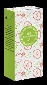 Соки СТО, вкус Яблоко-персик, упаковка 1 литр