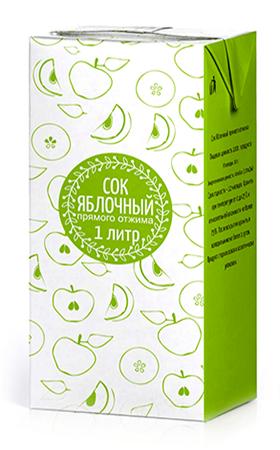 Соки ГОСТ, вкус Яблоко, упаковка 1 литр