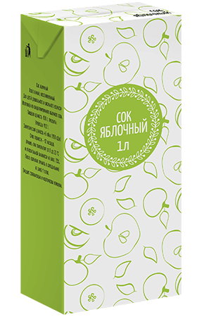 Соки СТО, вкус Яблоко, упаковка 1 литр