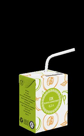 Соки СТО, вкус Яблоко-абрикос, упаковка 200мл.