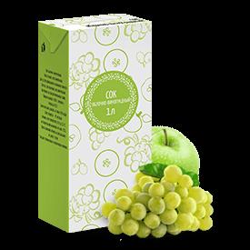 Соки СТО, вкус Яблоко-виноград