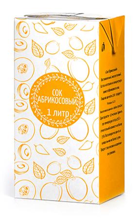 Соки ГОСТ, вкус Абрикос, упаковка 1 литр