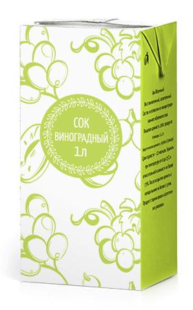 Соки ГОСТ, вкус Виноград, упаковка 1 литр