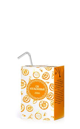 Соки ГОСТ, вкус Апельсин, упаковка 200 мл.