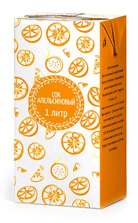 Соки ГОСТ, вкус Апельсин, упаковка 1 литр