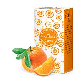 Соки ГОСТ, вкус Апельсин