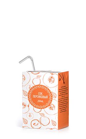 Соки ГОСТ, вкус Персик, упаковка 200 мл.
