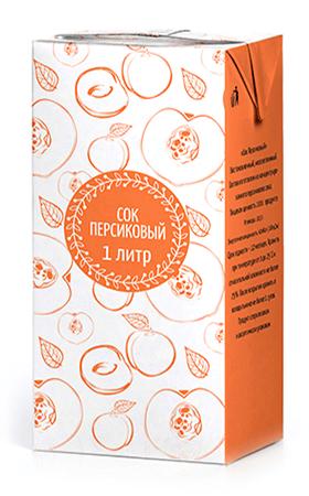 Соки ГОСТ, вкус Персик, упаковка 1 литр