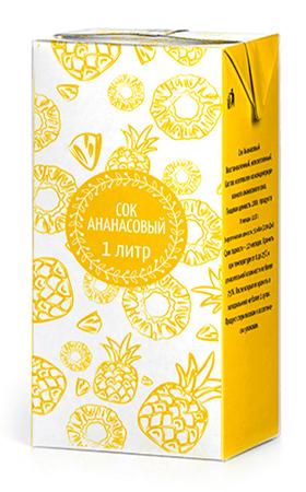 Соки ГОСТ, вкус Ананас, упаковка 1 литр