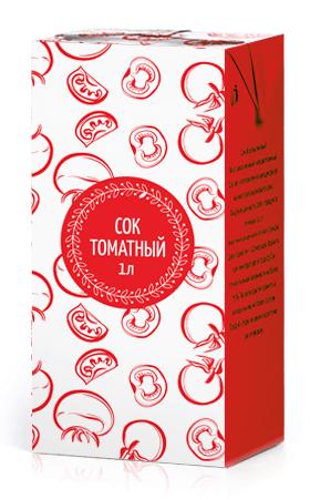 Соки ГОСТ, вкус Томат, упаковка 1 литр